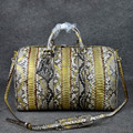Luxury python leather travel duffel bag travel case travel Organizers handbags