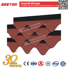 High quality Wave fiberglass Asphalt Roofing Shingles for wood house