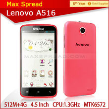 "New Model Arrive !!! Original 4.5"" Lenovo A516 Phone IPS Screen Dual Core 1.3GHz best selling cell phones"