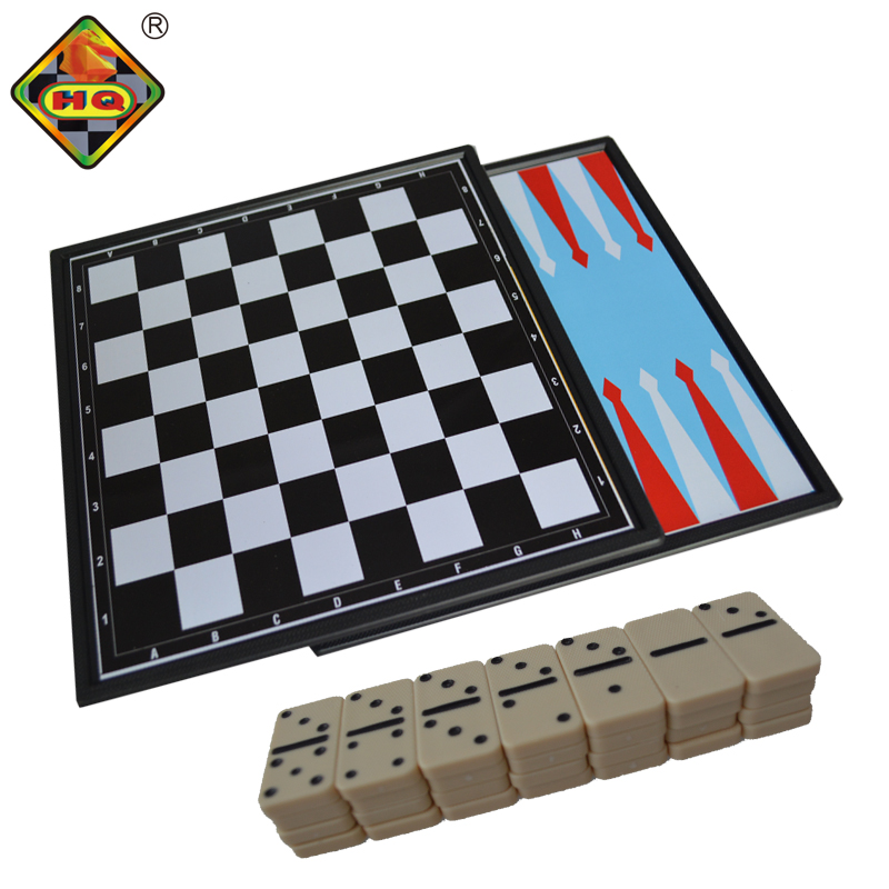 8 in 1 game on chess/checkers/backgammon/playing card/dominoes/football/baseball/tangram, kids` present