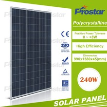 poly 240w solar panel for home solar power system with battery Monocrystalline Silicon Solar Panel