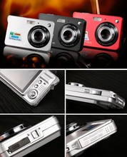 Hot Sale Slim multifunctional digital camera with 5MP, 2.7'' TFT LCD lithium battery, flashing light, PCCAM funct