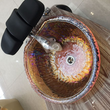 glass bowl of pedicure tub and pedicure bowl