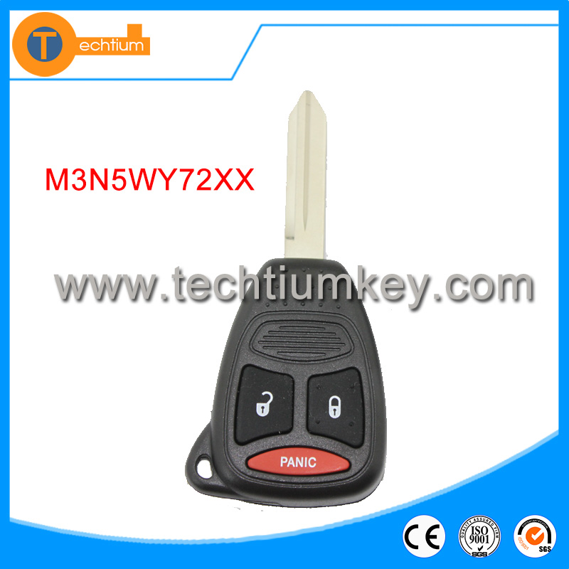 Origin quality for Chrysler 2+1 button remote key with 433Mhz FCCID-M3N5WY72XX (2004-2007) for chrysler car key blanks