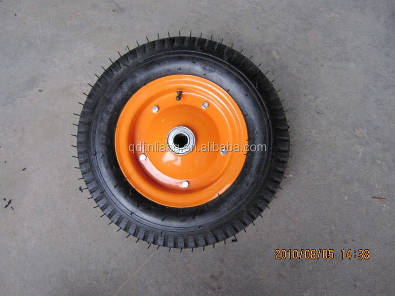 Good Quality Small Pneumatic Tyres 3.00-4 Pneumatic Rubber Wheel For Wheelbarrow Or Tools