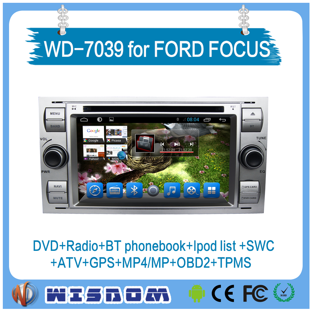 car gps navigation system for FORD FOCUS 2005 2006 2007/MONDEO/S-MAX/CONNECT navigation android car dvd player with bluetooth CE