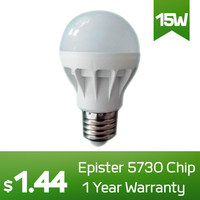 Low Price High Quality Plastic LED Light Bulb E27/B22 15W