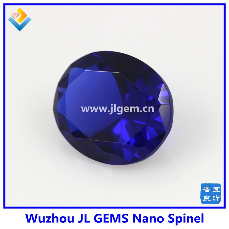 High Quality oval cut blue Sapphire 124 # Nano Spinel Gemstone