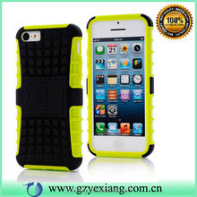 Rugged Kickstand PC+TPU Case for iPhone 5C with Stand