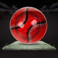 Official Machine Stitched pvc/tpu red soccer aqua ball,laminated pvc football