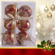 oem Promotional Popular plastic Christmas gift ball toy,oem colorful christmas ball