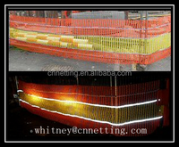 Chinese direct manufacturer reflective orange & yellow knitted safety barrier fence