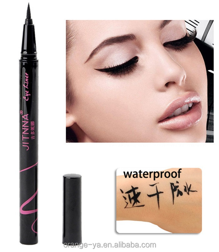 cosmetic eye liner with purple logo good for cat eye