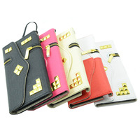 luxury PU Leather wallet case with card slot zip pocket cover for iphone 6/6s/6plus