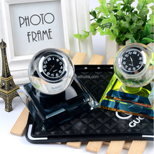 Wholesale hot fashion decorative ball shape smart crystal table clock