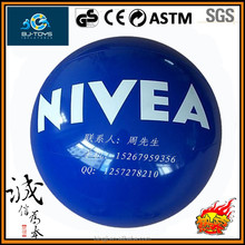 100% inspection meet EN71 pvc NIVEA inflatable balls for people beach play