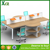 Jiangmen modern design modular office workstation with partition for 4 person