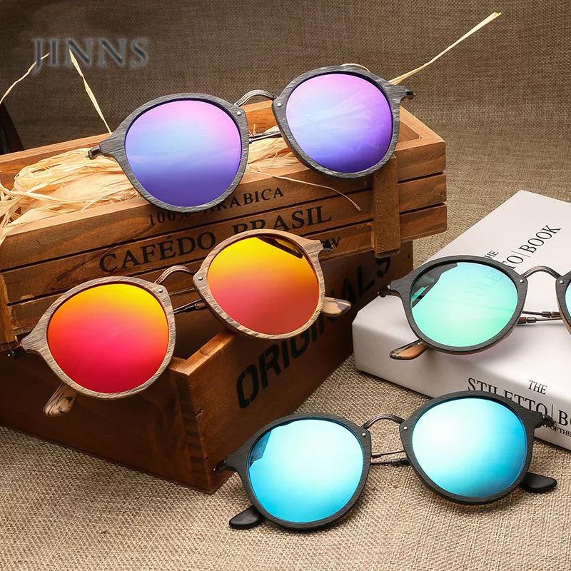Fashionable private label mens women polarized sunglasses wood