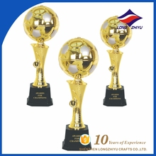 Special design elegant gold soccer ball trophy customized from factory