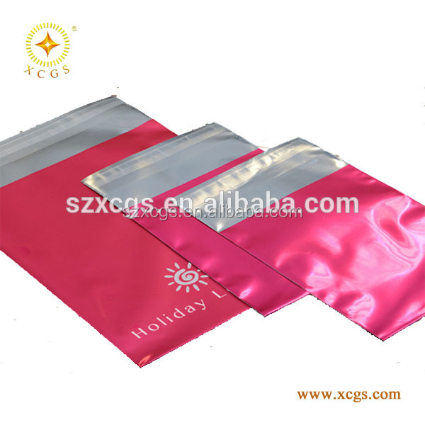 Poly shipping envelopes plastic postage bag custom matte black poly mailer bag