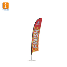 Tongjie TY Factory customized cross base promotional feather flag
