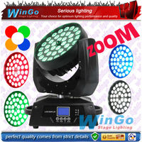 36x10w/15w (rgbw 4-in-1/rgbaw 5-in-1)LED zoom wash moving head/ night club DJ led&professional dj party event light