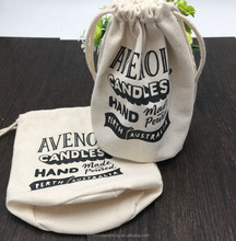 Round Bottom Natural Canvas Packaging Bag For Candle