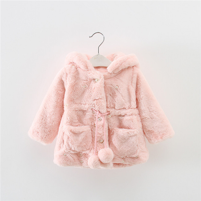 children winter clothing red and Pink coat for girls outdoor fluffy garment long red plaid new dress coat design