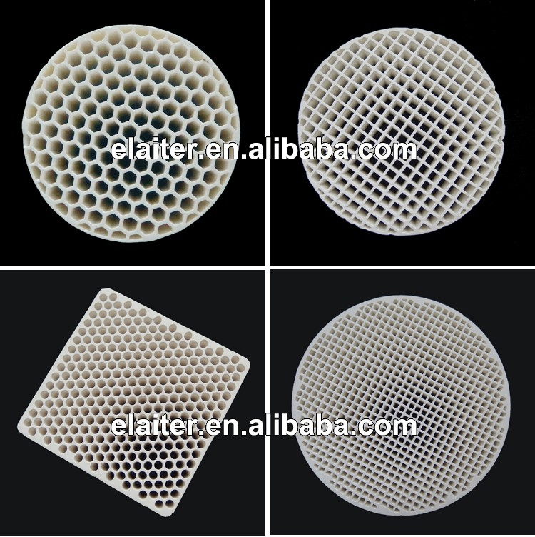 Honeycomb ceramic filter & molten metal filter, extruded straight channel/hole ceramic honeycomb filter