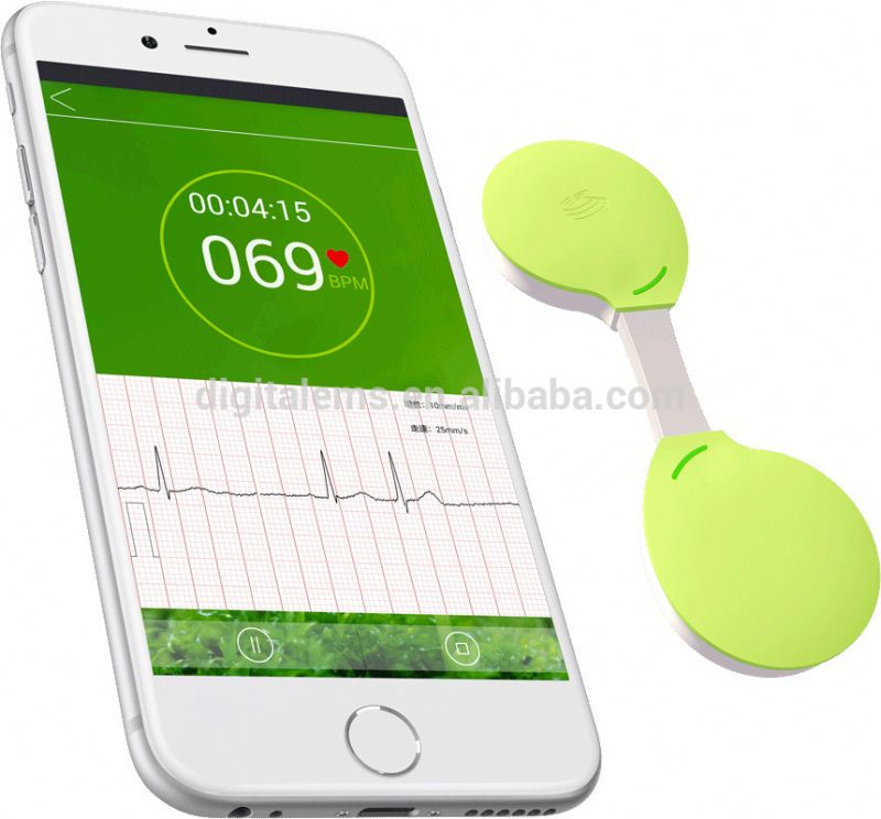 2016 blood pressure monitor bluetooth 6 channel holter ecg device 12 lead holter ecg