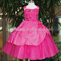 girls gorgeous satin A-line formal pageant dress wholesale from China