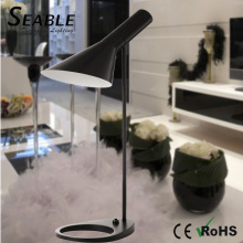 Metal material matt black chandelier table lamp for hotel