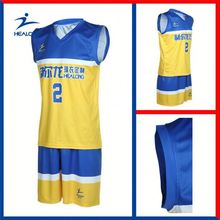 Healong Thermal Transfer Printing Spring Basketball Jersey World
