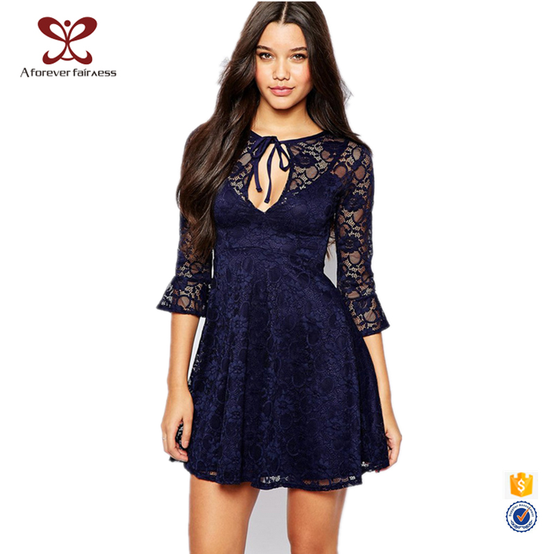 2016 New Fashion Sex Lace Formal Dress Latest Dress Designs Causal Loose Women Dress Buy