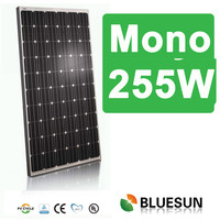 China PV manufacturer mono solar pavel ce 255w mono solar module for home solar power system