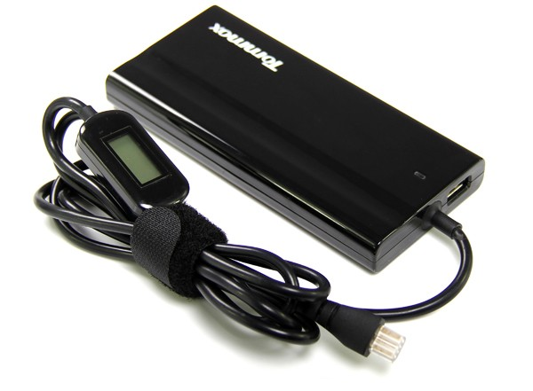 Slim Universal Laptop Adapter with LCD Screen