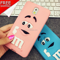 Silicone Phone cute m&m colorful cover case for iphone4s/5/5s/6/6S Plus , Samsung For Sony