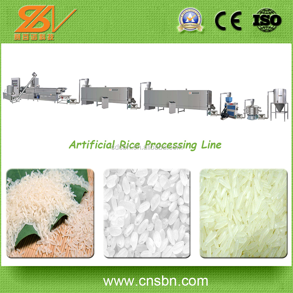 Broken rice reused manufacturer Extruded Rice Making Machine/Artificial Rice Processing Plant