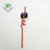 China wholesale low price kids toy Halloween red Detachable bat cartoon Drinking straws for festival party decoration