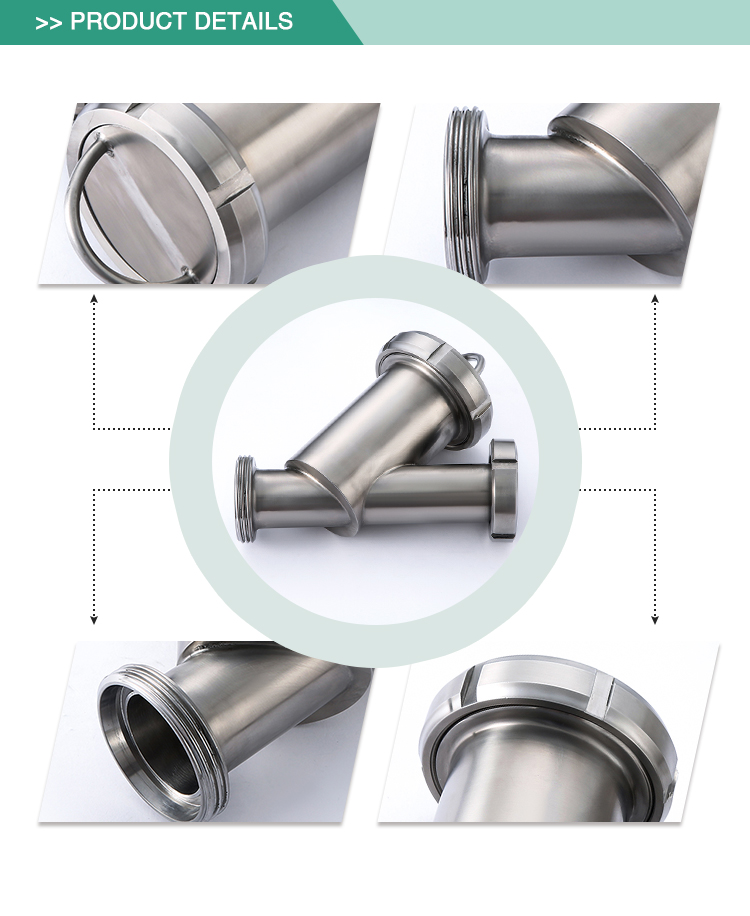 ShengFeng stainless steel Y Type Sanitary pipeline filter sus304