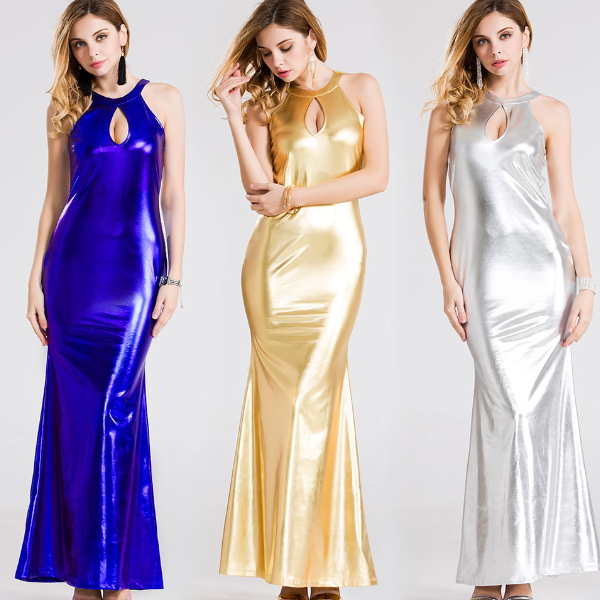 MS69009W bright color long maxi women dress modern clothing