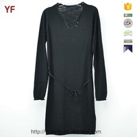 Latest Party Designs Long Sleeve Maxi Ladies Western Sweater Dress Designs