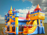 inflatable slide combo/bouncy slide/castle slide