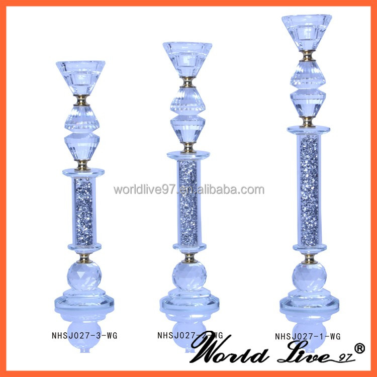 wholesale crystal tall candle holders for weddings