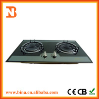 Wholesale infrared glass top gas stove 2 burner