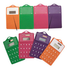 Mini pocket rubber silicone colorful calculator