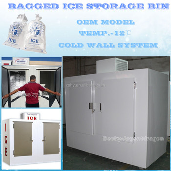 Wholesale bagged ice storage bin for stores to keep ice fresh