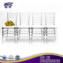 High Quality material clear stackable plastic resin chiavari chairs