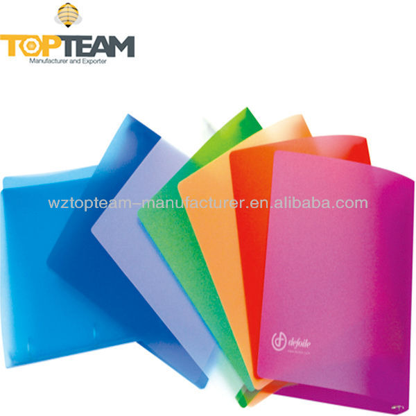 ECO-Friendly PP 4 Ring Binder Plastic Colored Frosted Office Portfolio FSC Certification