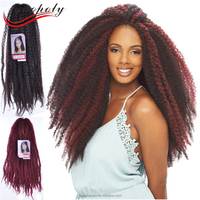 Cheap price afro kinky twist hair for brading synthetic crochet twist braid for african american